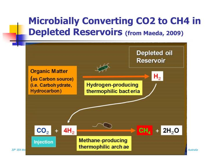 Microbially Converting CO2 to CH4 in Depleted Reservoirs