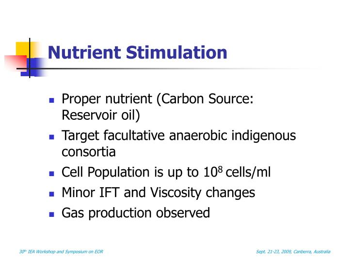 Nutrient Stimulation