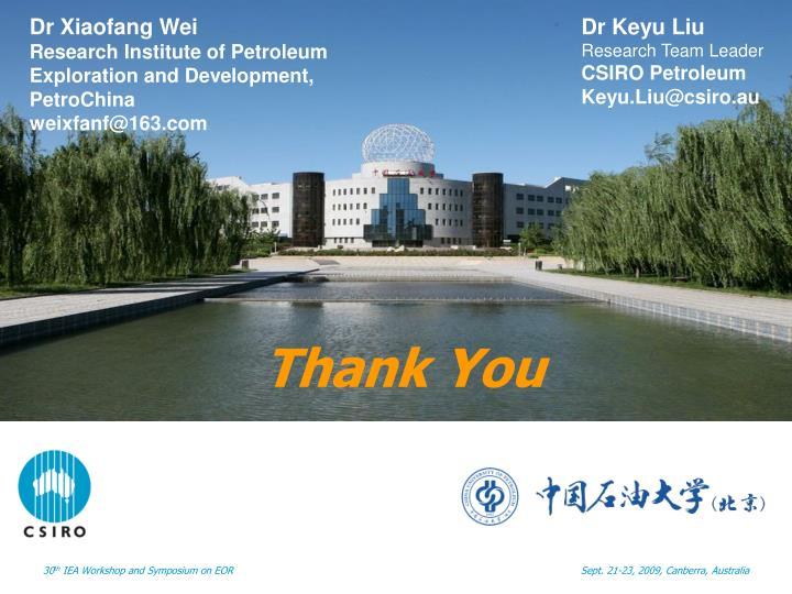 Dr Xiaofang Wei