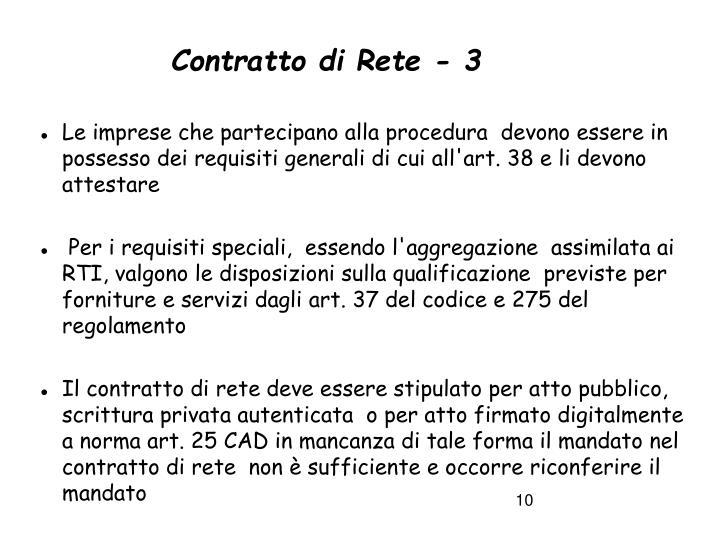 Contratto di Rete - 3
