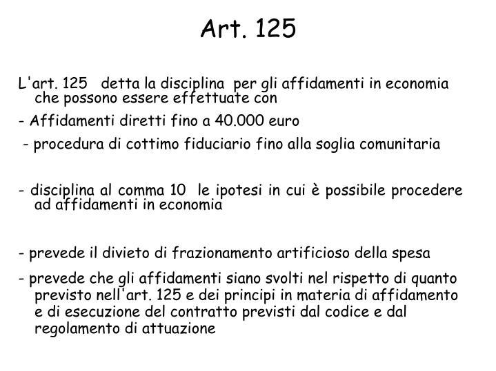 Art. 125
