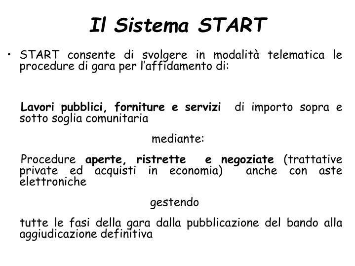 Il Sistema START