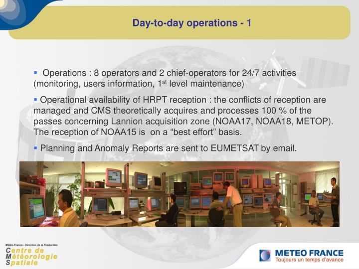 Day-to-day operations - 1