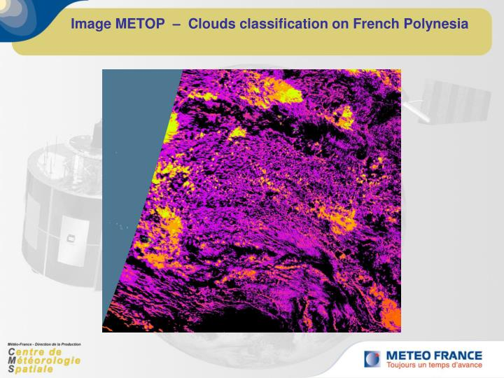 Image METOP  –  Clouds classification on French Polynesia
