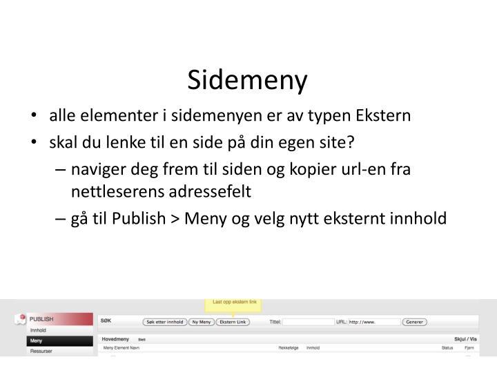Sidemeny