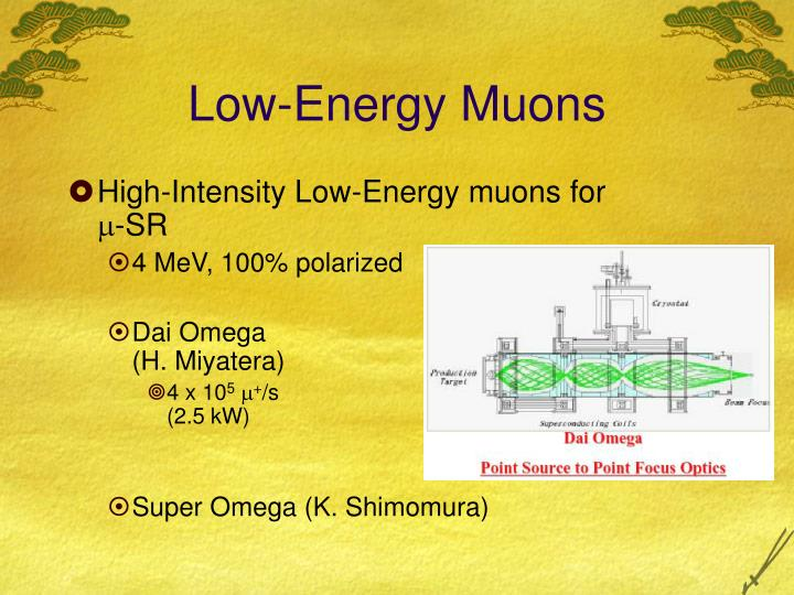 Low-Energy Muons