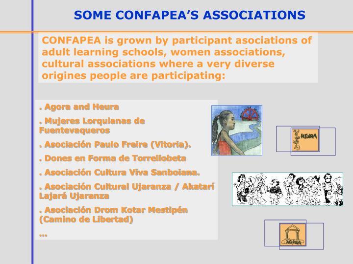 SOME CONFAPEA'S ASSOCIATIONS
