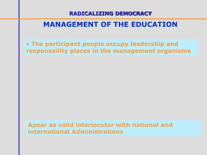 RADICALIZING DEMOCRACY