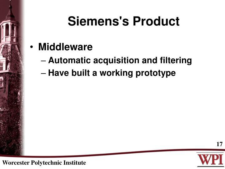 Siemens's Product