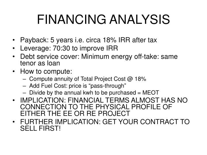 FINANCING ANALYSIS
