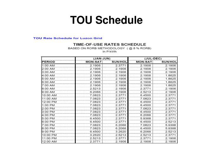 TOU Schedule