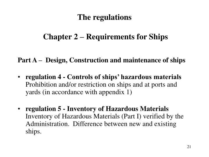 The regulations