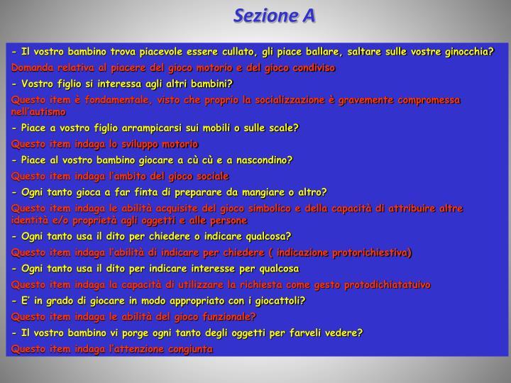 Sezione A