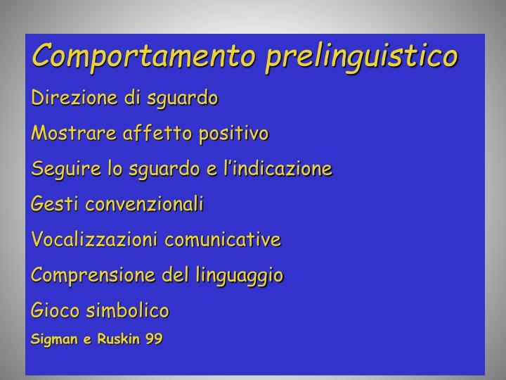 Comportamento prelinguistico