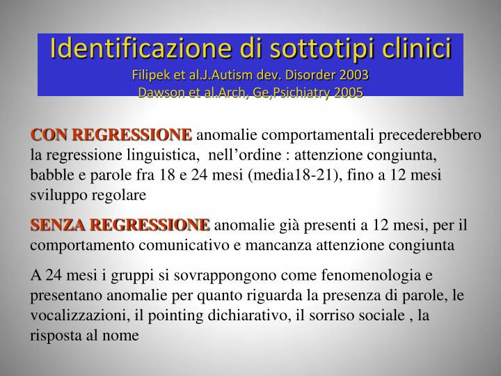 Identificazione di sottotipi clinici