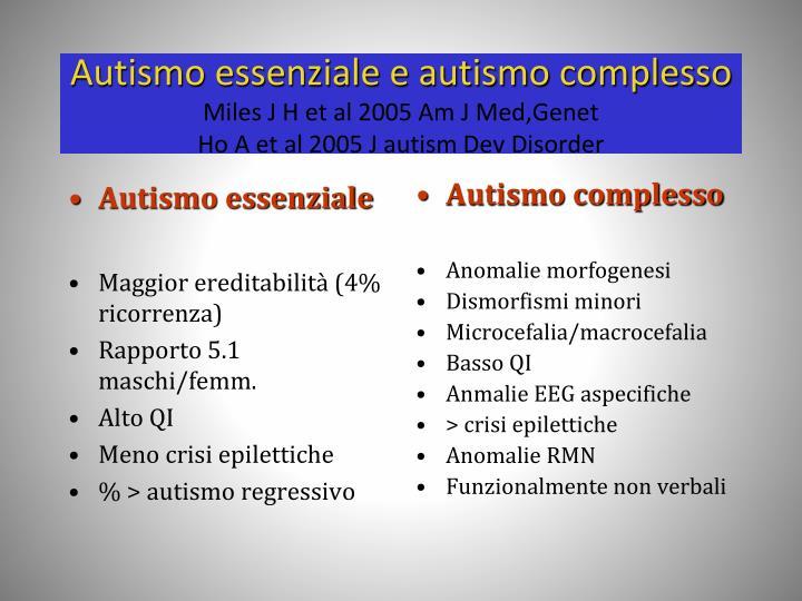 Autismo essenziale