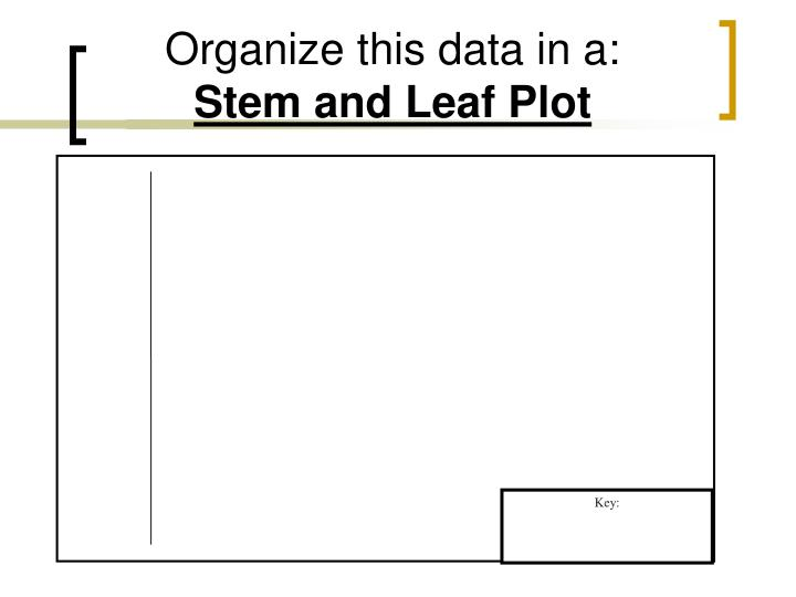Organize this data in a: