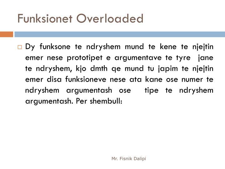 Funksionet Overloaded