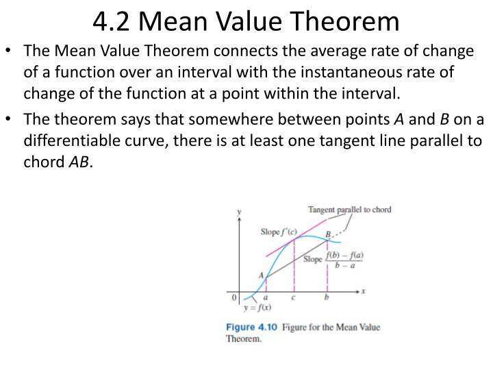 4 2 mean value theorem