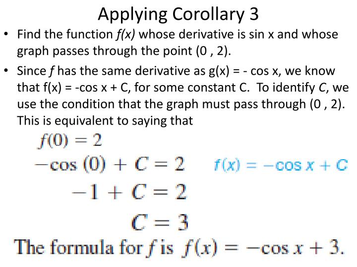 Applying Corollary 3