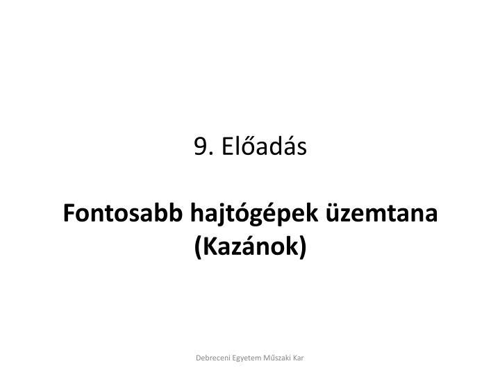 9. Előadás