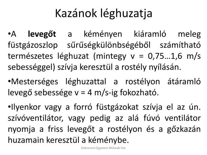 Kazánok léghuzatja