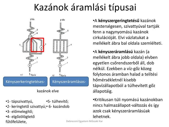 Kazánok áramlási típusai