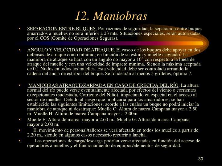 12. Maniobras