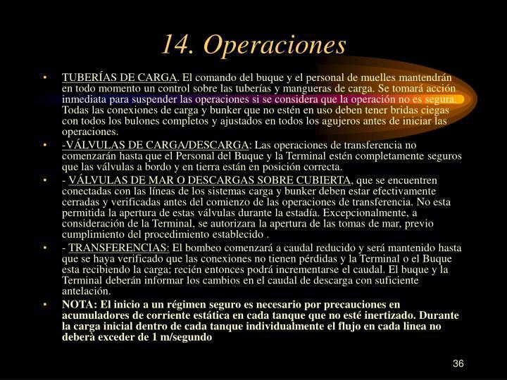 14. Operaciones