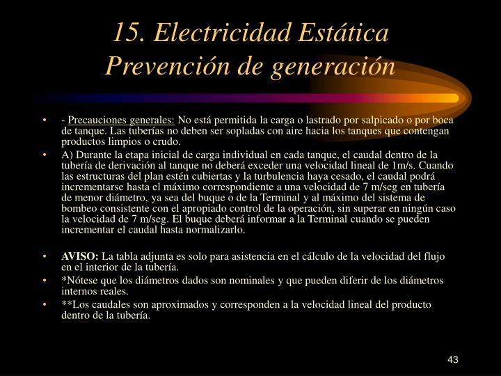 15. Electricidad Estática