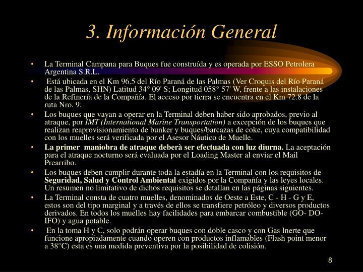 3. Información General