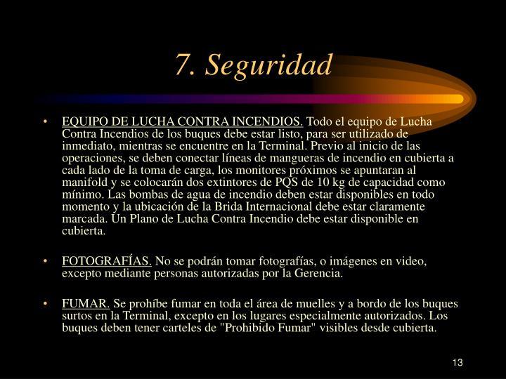 7. Seguridad