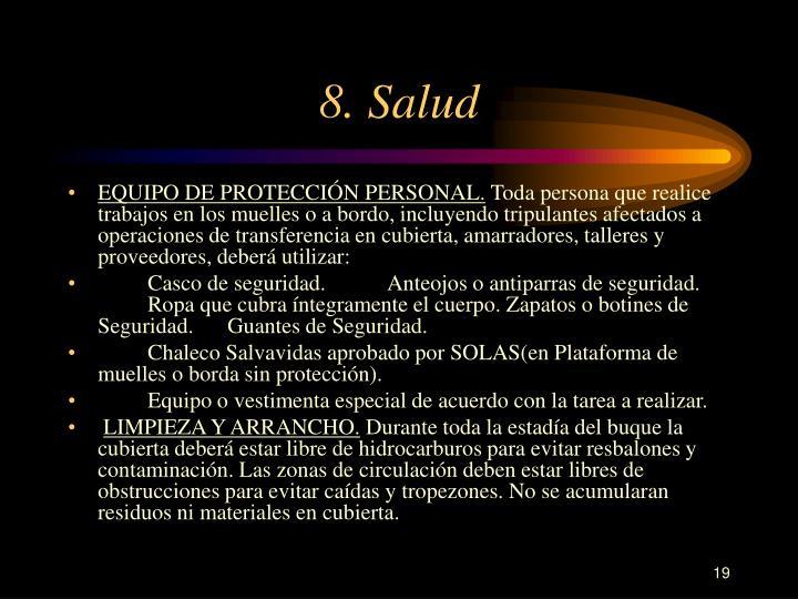 8. Salud