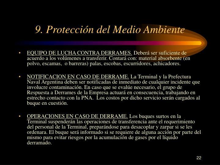 9. Protección del Medio Ambiente