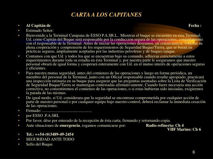 CARTA A LOS CAPITANES