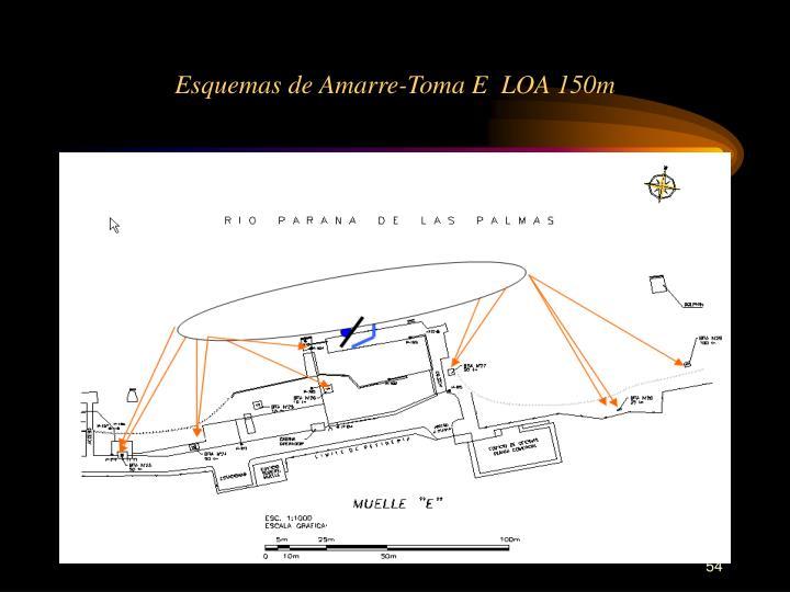 Esquemas de Amarre-Toma E  LOA 150m