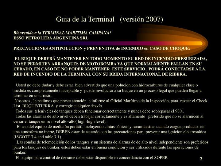 Guia de la Terminal   (versión 2007)