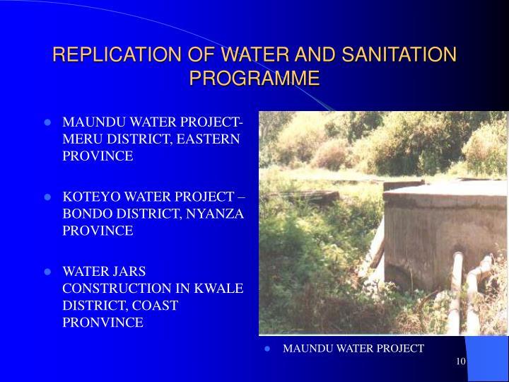 MAUNDU WATER PROJECT-MERU DISTRICT, EASTERN PROVINCE