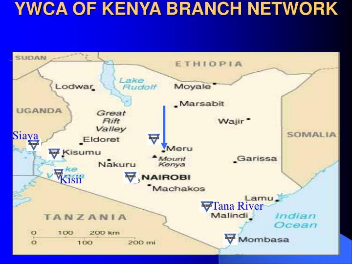 YWCA OF KENYA BRANCH NETWORK