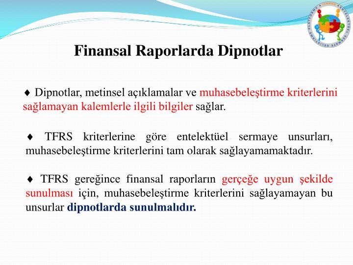 Finansal Raporlarda Dipnotlar
