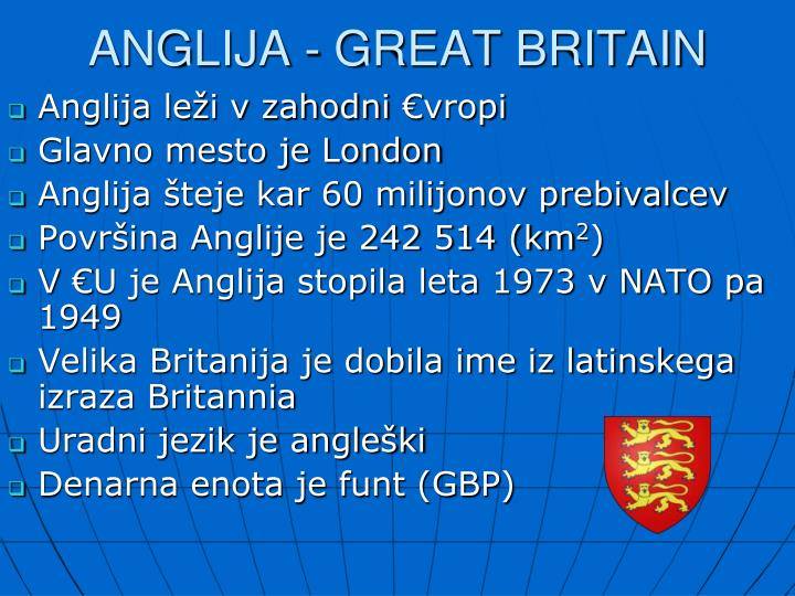 Anglija great britain