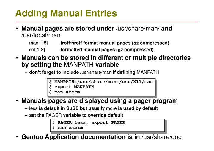 Adding Manual Entries