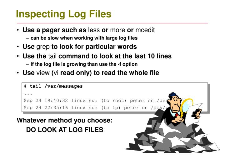 Inspecting Log Files