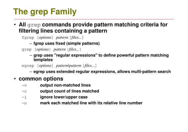 The grep Family