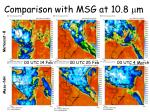comparison with msg at 10 8 m