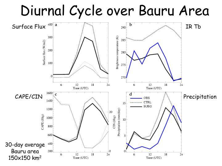 Diurnal Cycle over Bauru Area