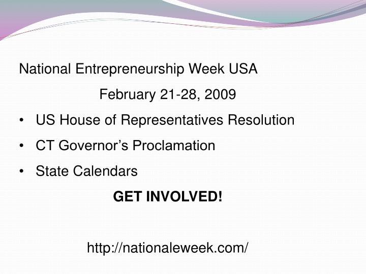 National Entrepreneurship Week USA