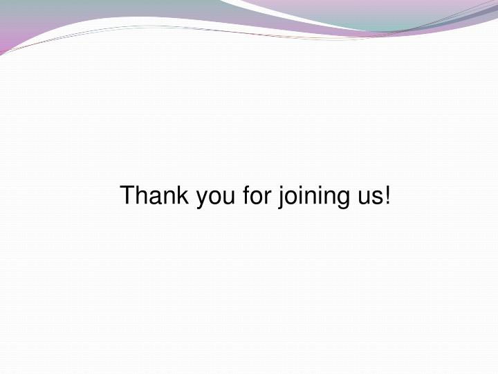 Thank you for joining us!