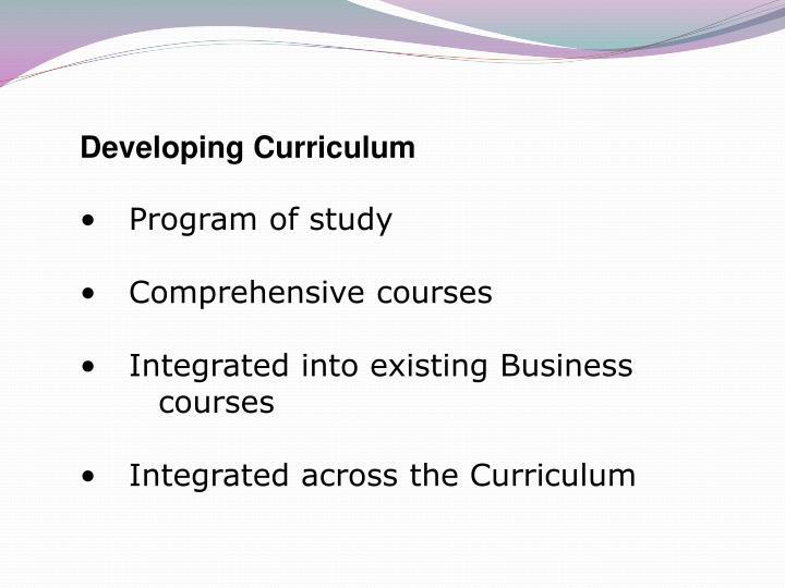 Developing Curriculum