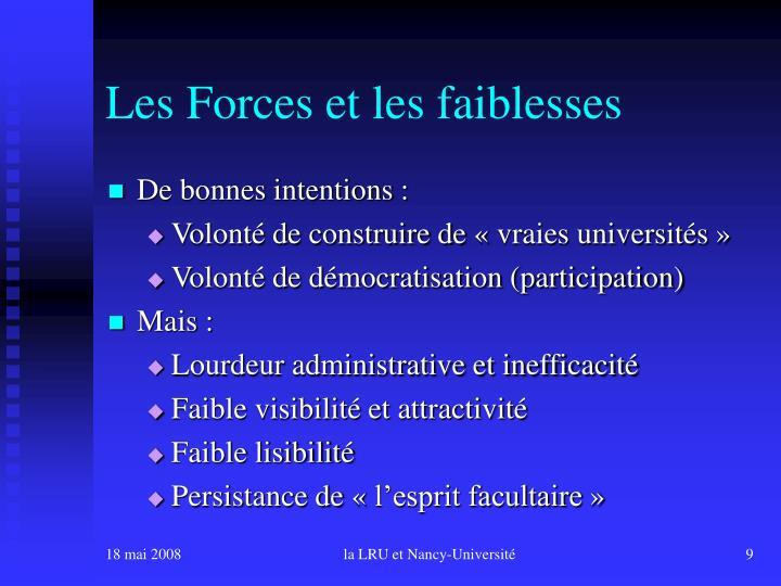 Les Forces et les faiblesses